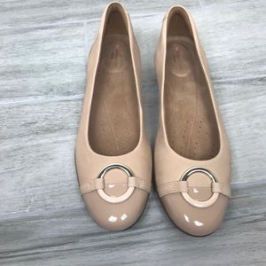 Clarks Unstructured Nude Flats